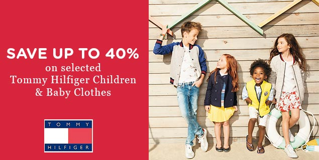 Up to 40% OFF selected Tommy Hilfiger