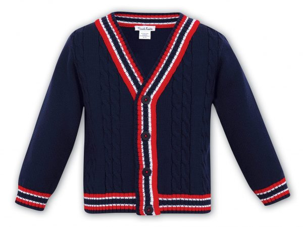 Sarah Louise Boys Navy Cardigan