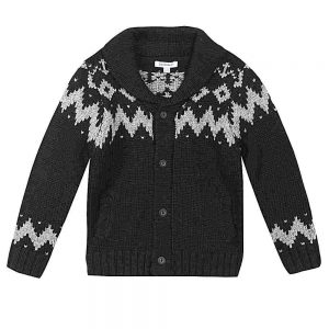 Image of 3 Pommes Boys Black Cardigan