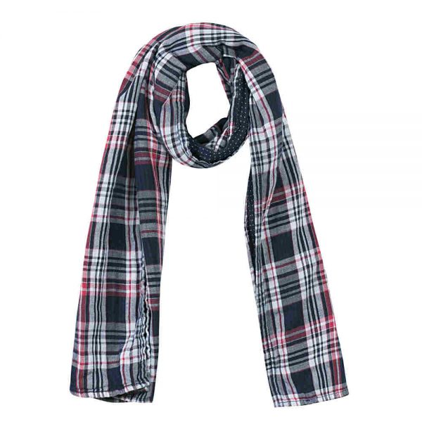 3 Pommes Checked Scarf