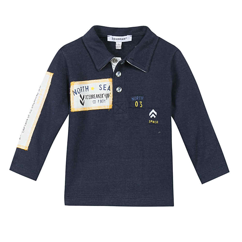 3 Pommes Baby Boys Navy Top