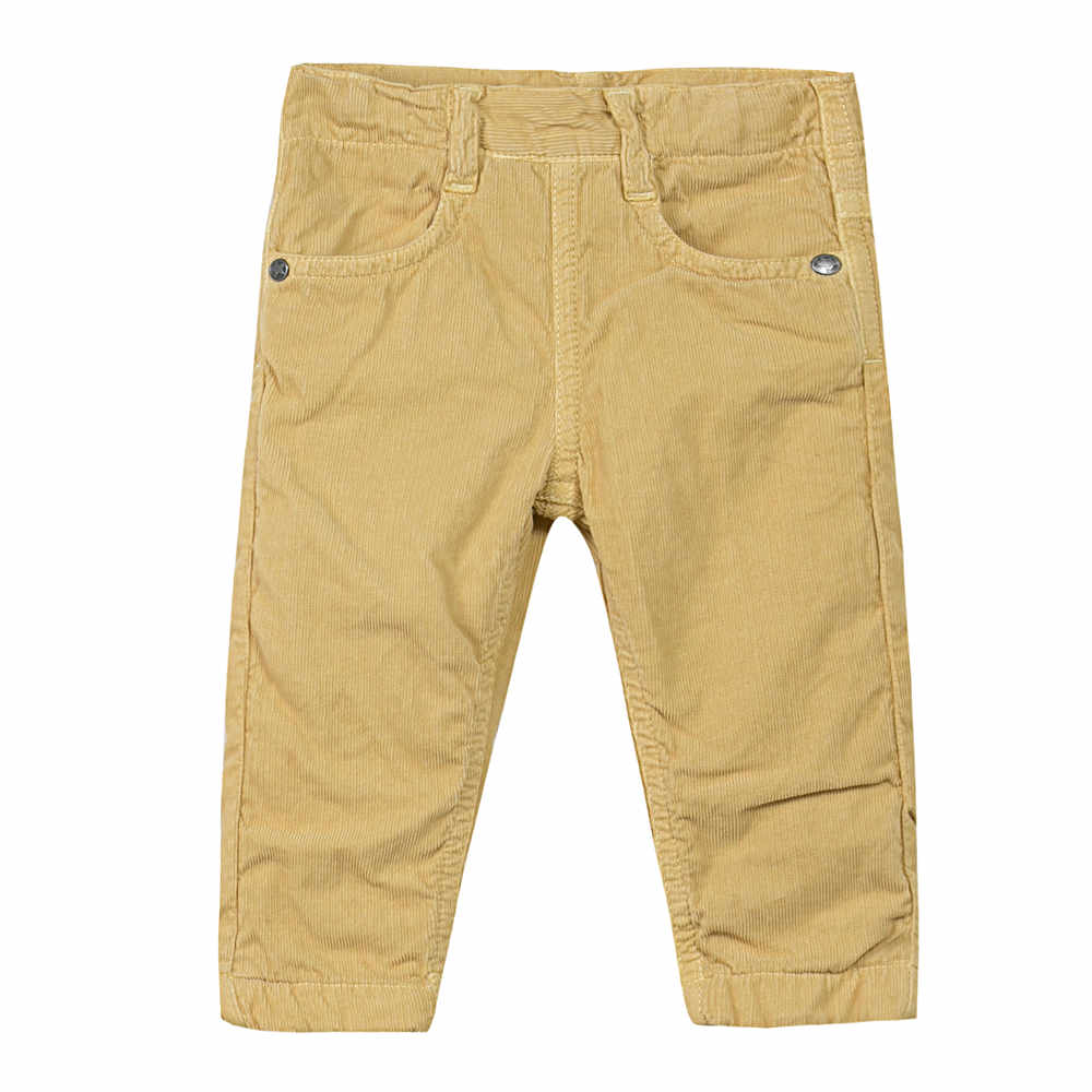 Image of 3 Pommes Baby Boys Mustard corduroy trousers