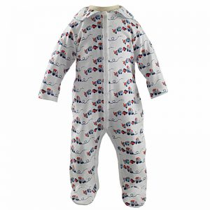 Rachel Riley Train Print Babygrow