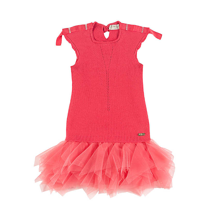 Pili Carrera Girls Pink Dress