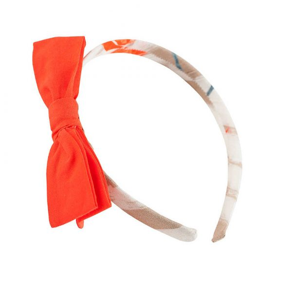 Pili Carrera Orange Bow Hairband