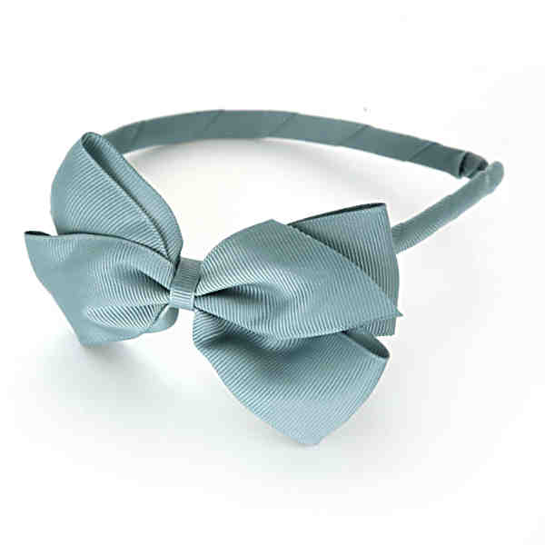 Turquoise Hairband With Bow