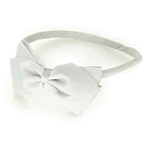 Girls White Hairband With Bow