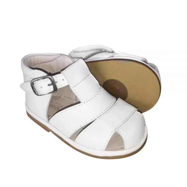 Borboleta Baby Boys White Sandals