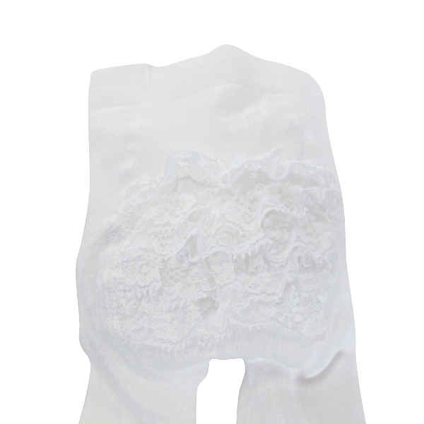 Carlomagno White Frilly Tights