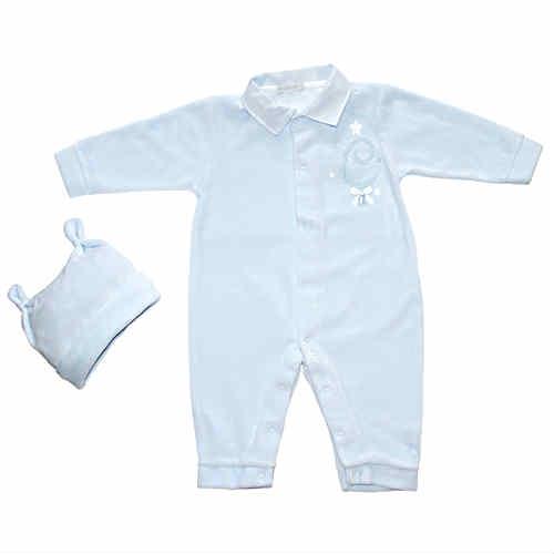 Coco Baby Boys Blue Babygrow