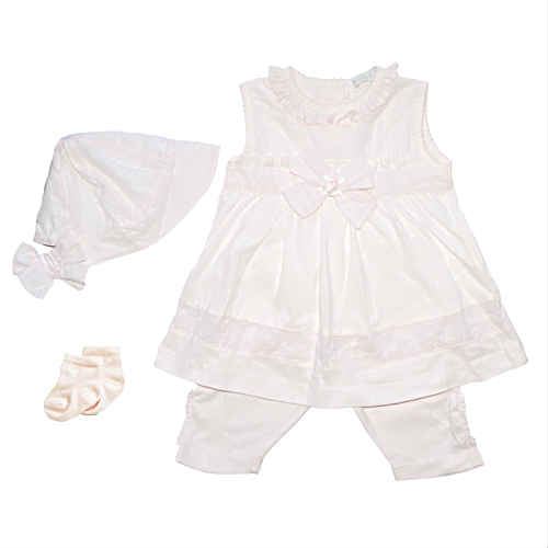 Coco Baby Girls Pink Sleeveless Dress