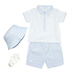 Coco Baby Boys Blue Shorts Set