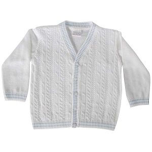 Pex Baby Boys white Cardigan