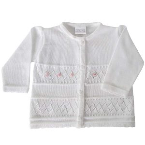 Pex Baby Girls White Cardigan