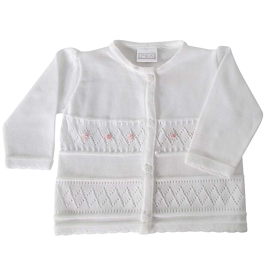 Pex Baby Girls White Cardigan Baby Girls White Cardigan Bumpalumpa