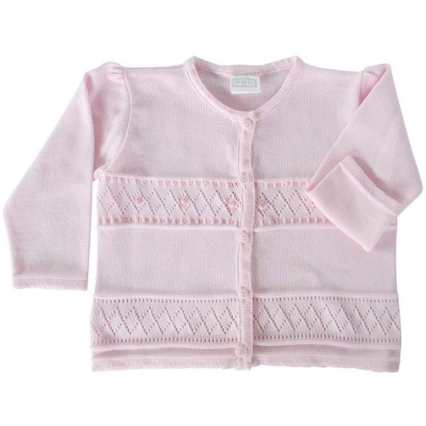 Pex Baby Girls Pink Cardigan