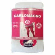 Carlomagno Girls White Wool Tights