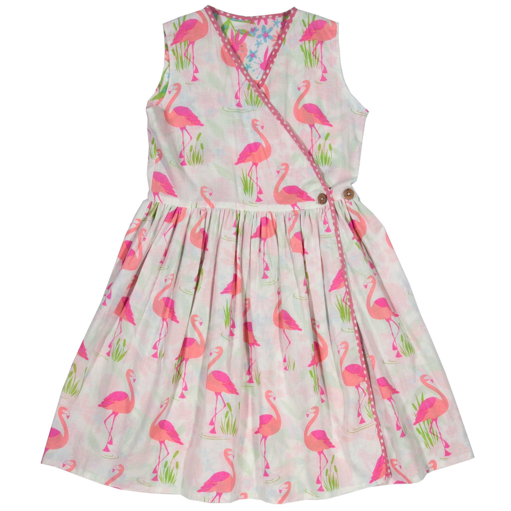 388d920ae Kite Girls Reversible Flamingo Dress | Girls Summer Dress | Bumpalumpa