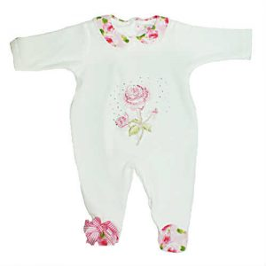 Little Darlings White Babygrow