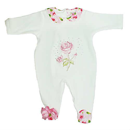 Little Darlings White Babygrow