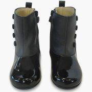 Girls Black Ankle Boots By Panyno