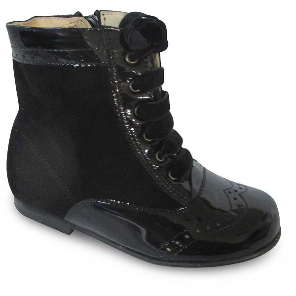 Panyno Girls Black Ankle Boots