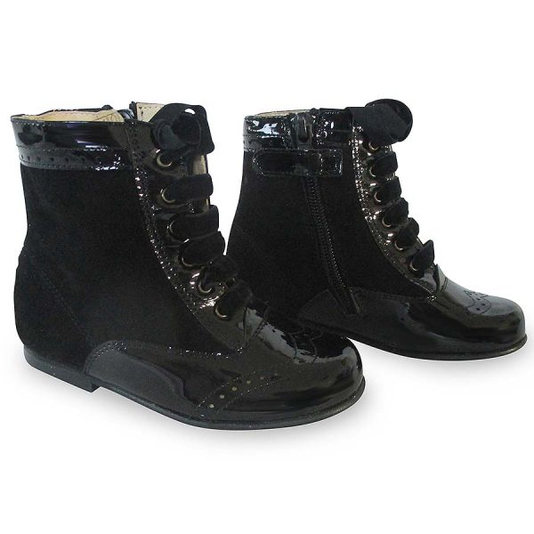 Girls Black Ankle Boots