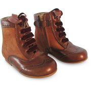 Panyno Girls Brown Ankle Boots