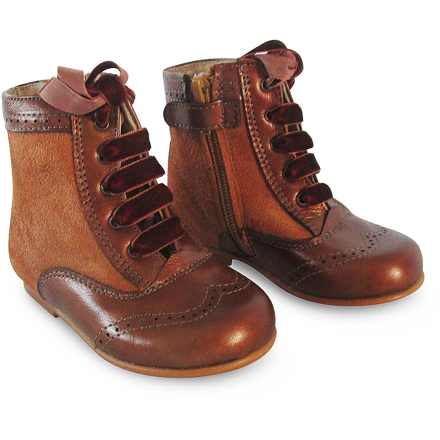 Panyno Girls Brown Ankle Boots | Various Sizes ...