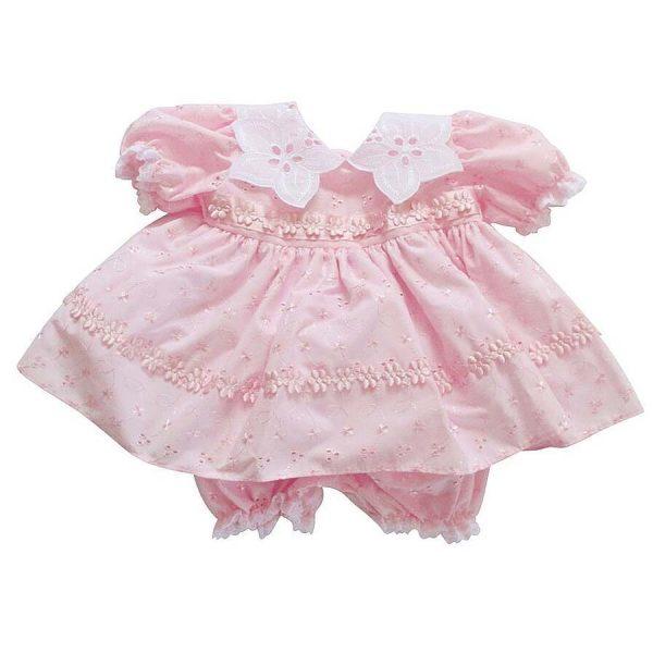Pex Baby Girls Pink Dress & Bloomers