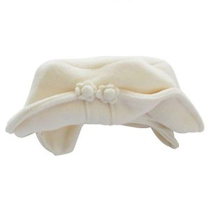 Pex Baby Girls Ivory Fleece Hat