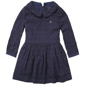Tommy Hilfiger Girls Navy Victoria Lace Dress