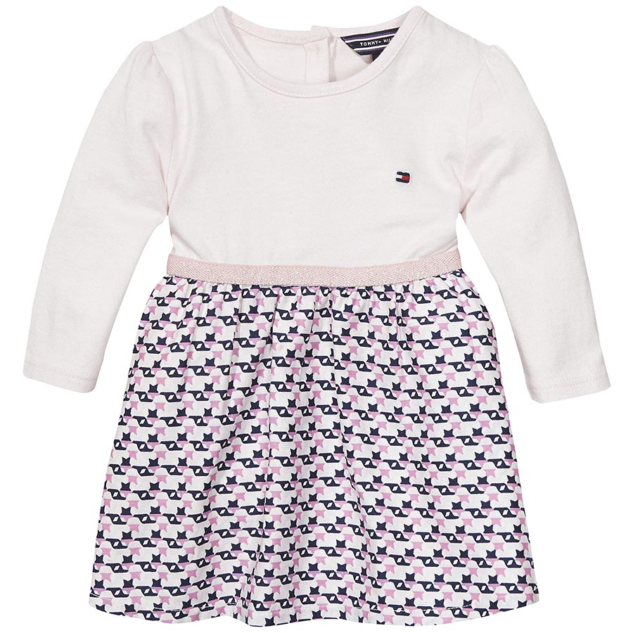 Tommy Hilfiger Baby Girls White and Pink Dress