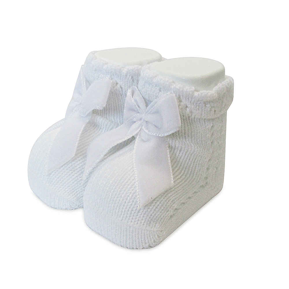 Carlomagno Baby Girls White Ankle Socks