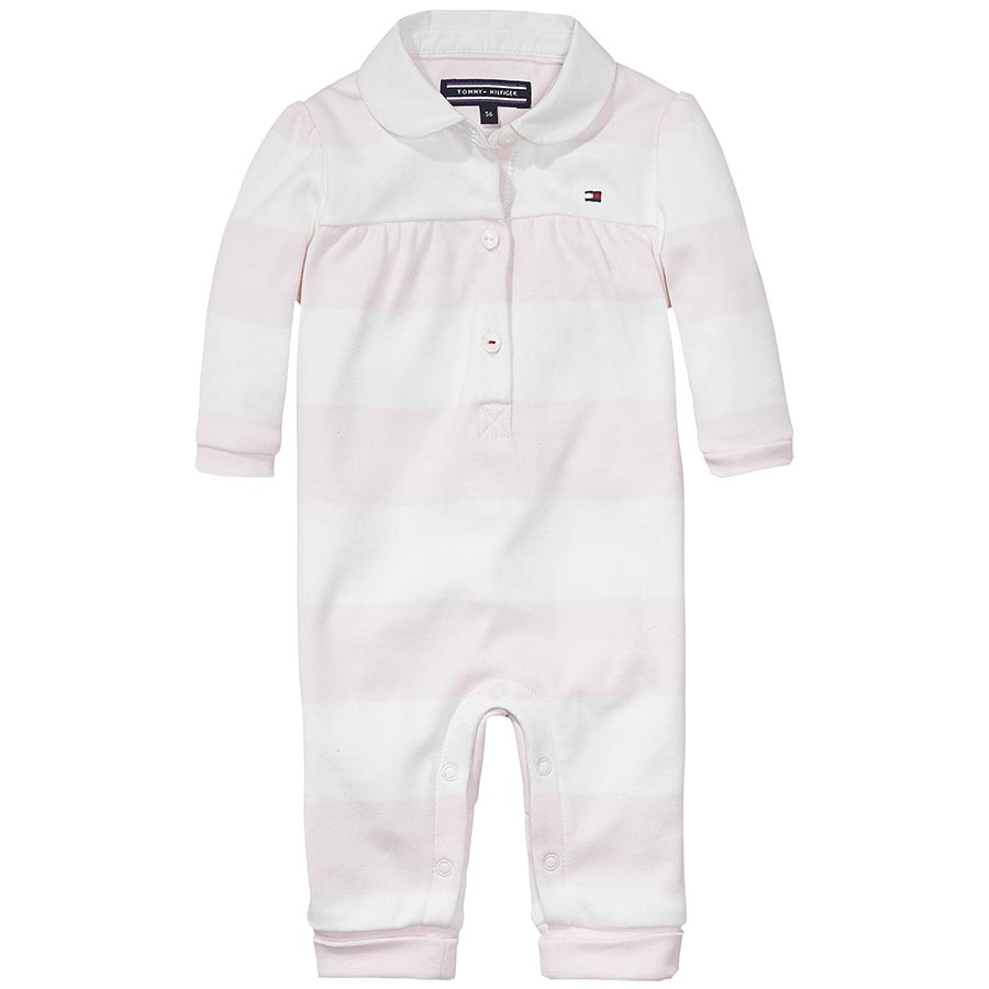 Tommy Hilfiger Baby Girls Rugby Romper