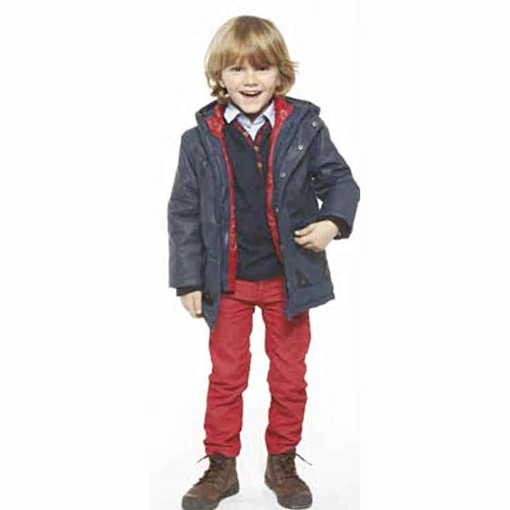 Image of Boys wear 3 pommes navy jumper and jacket