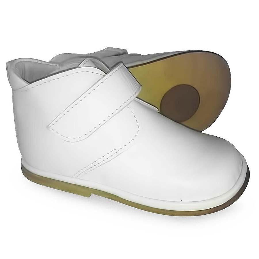 Borboleta Baby Boys White Boots