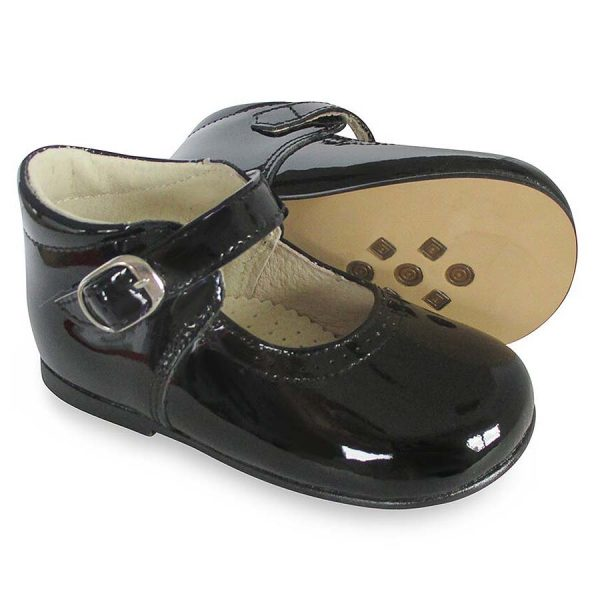 Panyno Girls Black Patent Leather Shoes