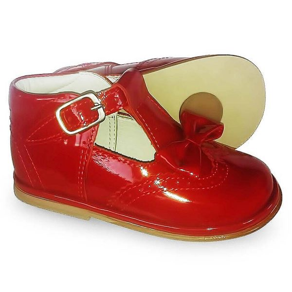 Borboleta Girls Red Patent Leather Shoes
