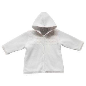 Pex Baby Girls White Knitted Cardigan