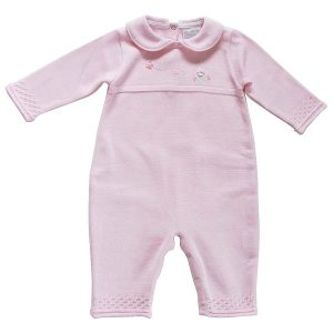 Pex Baby Girls Pink Knitted Romper