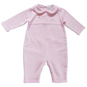 Pex Baby Girls Pink Knitted Romper