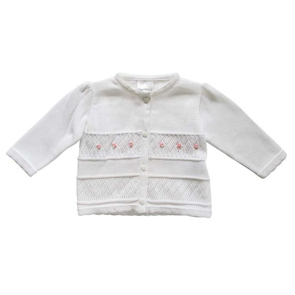 Pex Girls Luciana White Cardigan