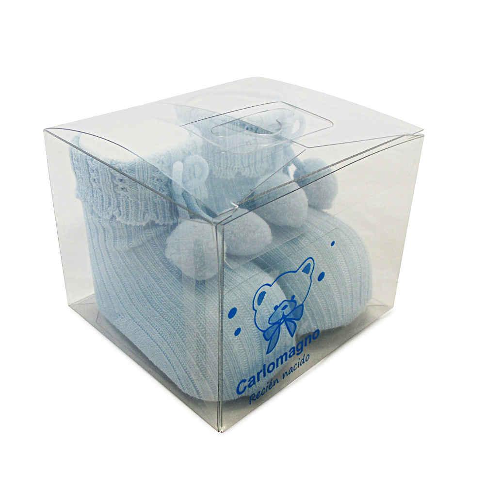Carlomagno Blue Pom Pom Socks