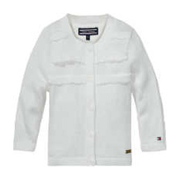 Tommy Hilfiger Baby Girls White Cardigan