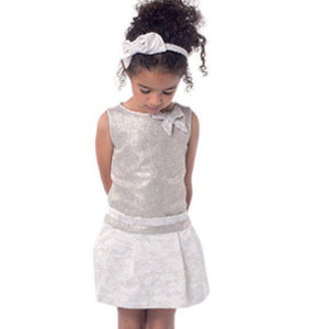 Pili Carrera Girls Silver Dress