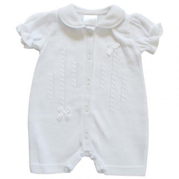 Pex Baby Girls White Romper