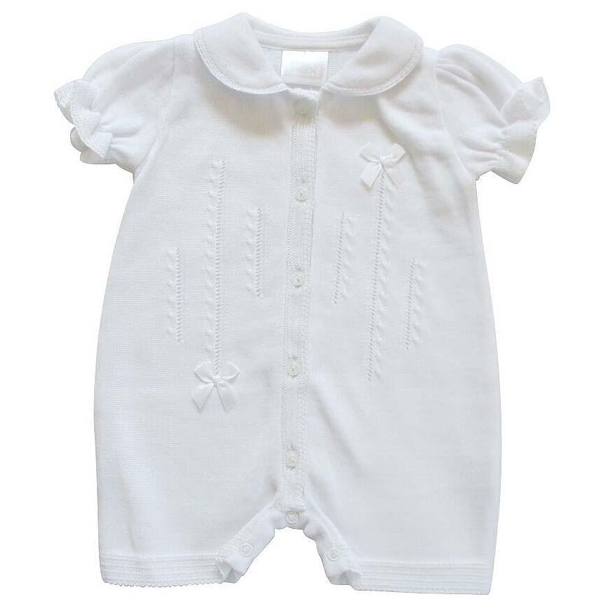 Pex Baby Girls White Romper