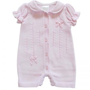Pex Baby Girls Pink Romper