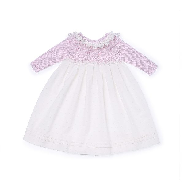 Pili Carrera Baby Girls Dress and Bonnet
